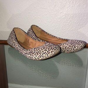 Lucky Brand cheetah print flats